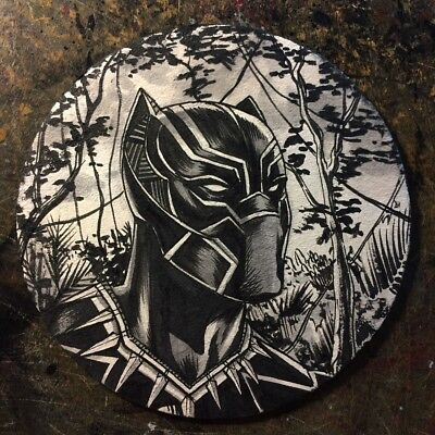 Mike Rooth Original Art - Black Panther - Ink And Wash - T'challa Wakanda Marvel