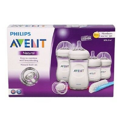 ****New Philips Avent Natural Newborn Starter Set BPA Free *** box damage