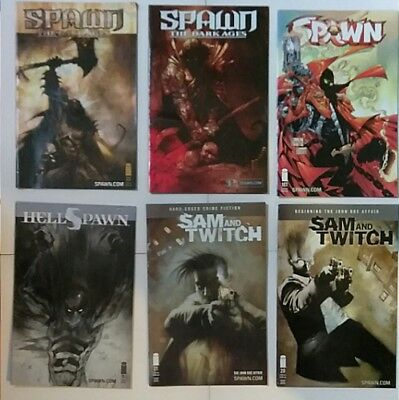 Lot of 6 Sam and Twitch (2) Spawn (3) and Hell Spawn (1) Comics
