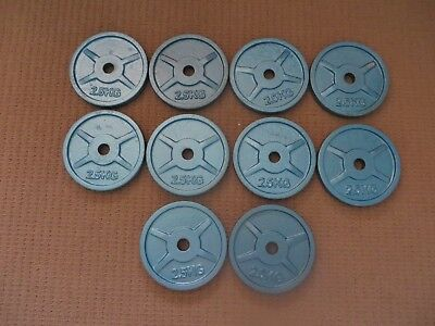 Weight Plates - 2.5Kg X 10 - Brand New