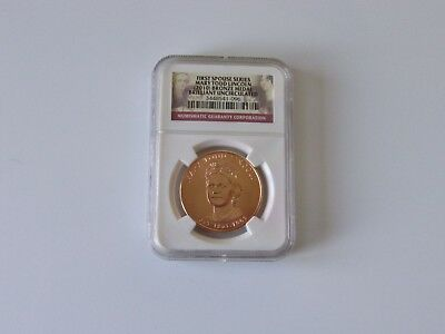 Mary Todd Lincoln, 2010 first spouse series bronze medal. NGC graded BU.
