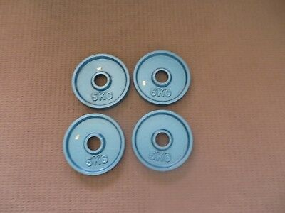 Olympic Weight Plates - 5Kg X 4 - Brand New