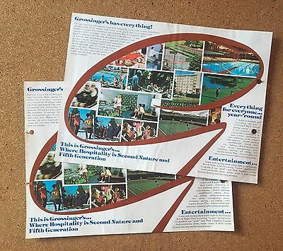 1970s Grossinger's Brochure Full Color Liberty NY Sullivan County Catskills