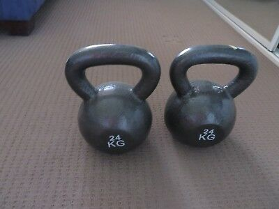 Kettle Bells - 24Kg X 2 - Brand New