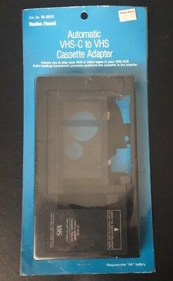 Radio Shack VHS-C to VHS Video Cassette Tape Playback Adapter 16-2031