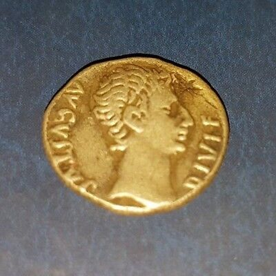 Augustus Denarius Silver Coin, the weight of the coin is 3.15 grams
