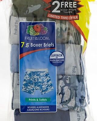 Fruit of The Loom Boy's Boxer Briefs superior fit 7 Pack Size M
