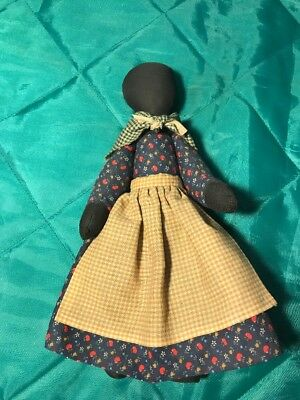 "New Primitive Country Folk Art Doll Jointed Arms And Legs 10"" Tall"