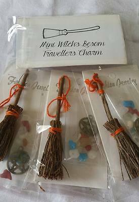 Lucky Charm Besom Kit ~ Safe Travels ~ Crystals & Charm