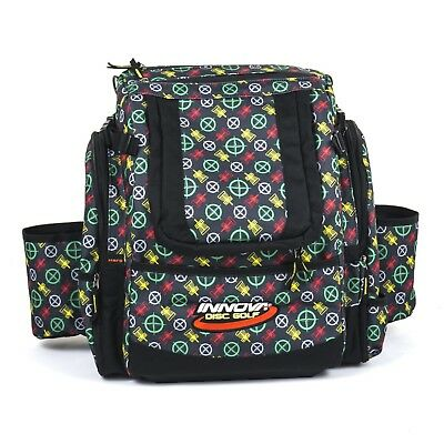 Innova Super HeroPack Disc Golf Backpack/Bag, 35+ Disc Storage, Black Rasta Logo