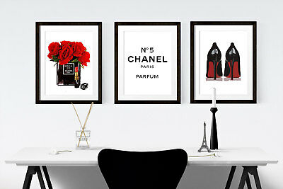 High Fashion Coco Chanel Poster Wall Art Boutique Beauty Girls Home Decor-105