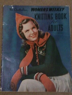 Vintage - The Australian Women's Weekly Knitting Book for Adults