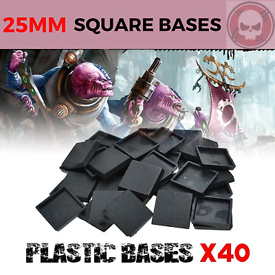 25mm 40pcs Square Plastic bases for warhammer & Gaming miniatures and wargame