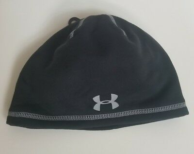 New Boys Under Armour Elements Coldgear Infrared Beanie Gray