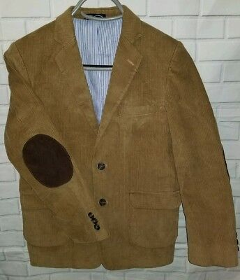12 Boys Tommy Hilfiger Brown Corduroy Blazer With Dark Brown Elbow Patches coat