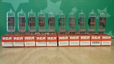 Stax SMR 007TII Lot-of-10-RCA-6FQ7-6CG7-Clear-Top