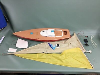 """Vintage Cox / Kyosho TradeWinds 36"""" RC Sailboat Parts - Trade Winds"""