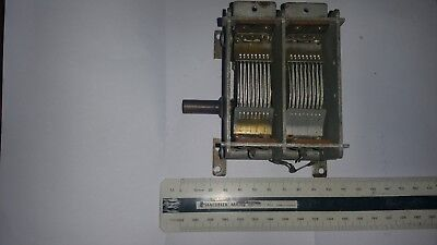 Dual-Gang-2-Section-Air-Spaced-Variable capacitor