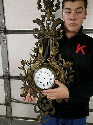 fabulous large french bronze 19th century figural cartel clock project