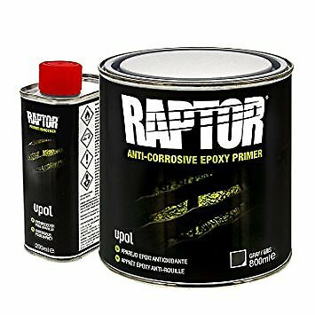 Upol RAPTOR 4:1 ANTI-CORROSIVE EPOXY PRIMER 1L KIT Bed Liner& Protective Coating