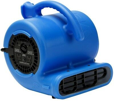 Floor Blower Fan 1/4 HP Air Mover Carpet Dryer Blue Stackable Thermoplastic