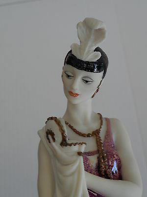"""LADY WITH COMPACT (POWDER PUFF) 12 1/2""""  392C Hand Signed by Giuseppe Armani"""