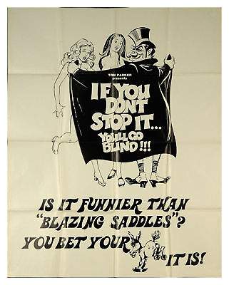 If You Don't Stop It… You'll Go Blind!!! 1975 40x51 Orig Movie Poster
