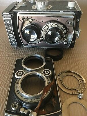 ◔‿◔ Rolleiflex TLR for Parts /Repair- Unknown date/model- Xenar Lens