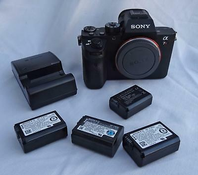 Sony Alpha a7R II 2 Mirrorless Digital Camera 42.4MP w/ Charger Extra Batteries