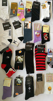 50 Pairs Assorted Mens Womens Kids Socks Bulk Wholesale Clearance