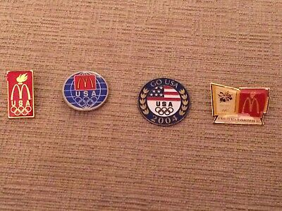 Mcdonalds Older Olympic Pins Four Designs