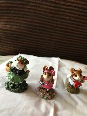 Wee Forest Folk 1990 M171 Zelda,  M167Colleen, M16S Stars Stripes see conditions