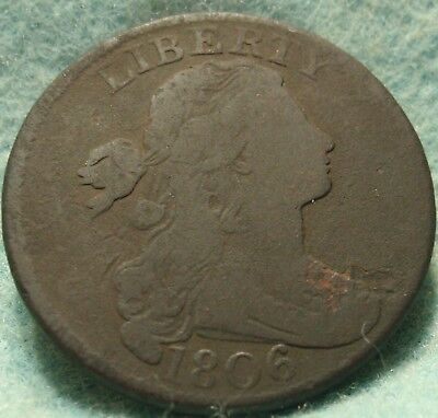 1806 Draped Bust Large Cent - Clear Date, Nicer Grade