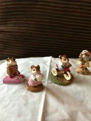Wee Forest Folk 1983 Mousey, Cupid, Birthday Girl, Geroniouse, see conditions