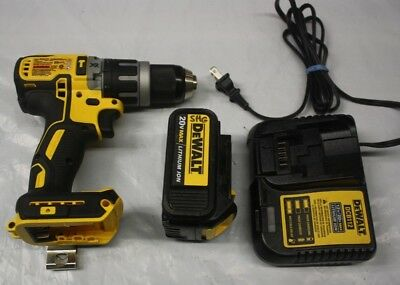 "DeWALT DCD797 20V MAX XR Li-Ion Brushless 1/2"" Hammer Drill w/BATTERY AND CHARGE"