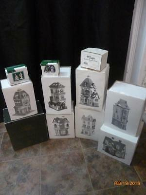 Dept 56 Heritage Village Collection Lot (11 Items)