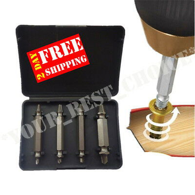 4-PACK Grab-it Extractor Set Universal Damaged Screw Extractor Kit Bolt Remover!