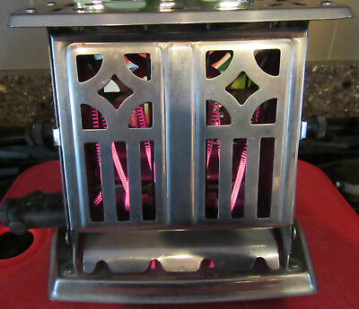 Vintage Manning Bowman Steel Working Toaster Pat. Oct. 12, 1926
