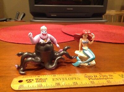 Walt Disney World Little Mermaid movie Ariel And Ursula Cake Topper Figures