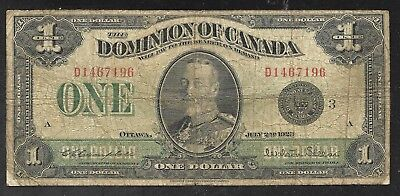 Canada - Large Size 1 Dollar Note - 1923 - P33n