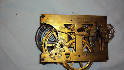 Antique Seth Thomas 9 1/2 time only 8 day regulator clock movement parts repair