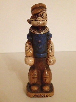 """Popeye The Sailor Syroco Statute Figurine 5"""" Tall 1944 King Features Gorgeous!"""