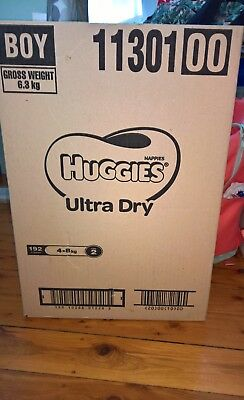 huggies infant nappies size 2 boy 192 pcs