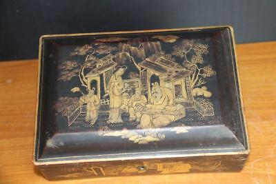 Fine and Old Chinese Lacquer Box.