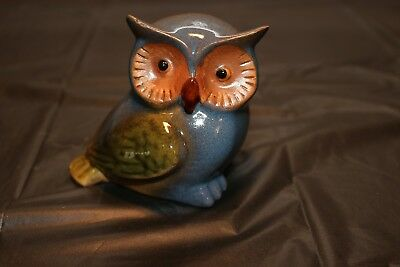 Brand New Ceramic Owl Figurine. Cute, small, paperweight. Hand Painted. Original