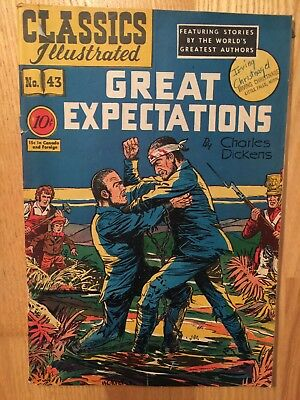 Classics Illustrated #43 Great Expectations 1St Printing 1947 Hrn 42 Rare