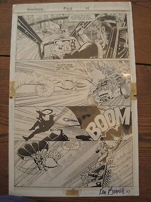 Original Comic Art Sheet Punisher Issue 54 Page 14 Signed Ken Branch 07 Wow