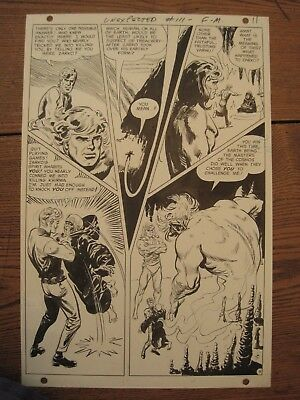 Original Comic Art Sheet 1968 Tales Of The Unexpected #111 Jack Sparling + Book