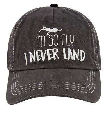 8d5423b9926 DISNEY PARKS PETER Pan I m So Fly I Never Land Baseball Cap Hat ...