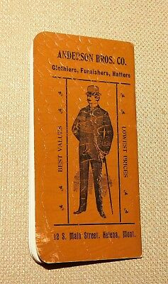 Anderson Brothers Clothiers-Hatters Helena Montana 1903 advertising booklet
